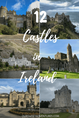 I have gathered 12 of the BEST CASTLES IN IRELAND that you cannot miss. Each one is spread throughout the country and has some unique history behind them. Some are iconic, have been featured in TV, almost in complete ruins or even turned into a hotel. Nevertheless, exploring these Irish castles will be some of the best highlights of your entire trip on the Emerald Isle.