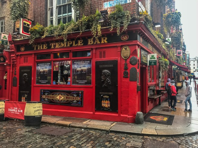 A trip to Dublin is not complete without a visit and drink at the Temple Bar.