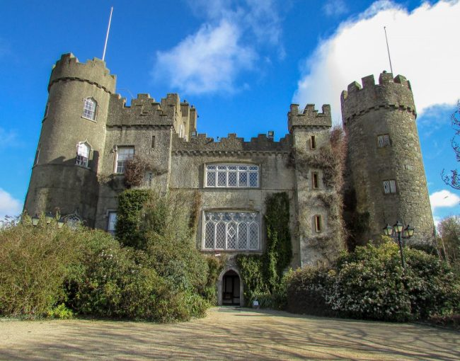 Malahide Castle is only 15 minutes from Dublin airport, which makes it an easy castle to visit as soon as you land! There is also a beautiful garden and Fairy Trail to enjoy for all ages. Guided tours of the castle is also offered daily.