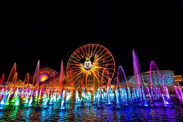 World of Color at Disneyland is the most spectacular show we have ever seen. It is a true cinematic masterpiece combining water, color, music and theatre. You cannot miss this show at Disneyland.