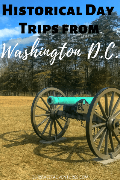 As our nations capitol, there are several historic places to visit. However, there are also several historical day trips from Washington D.C. From battlefields and the estate of George Washington, check out some of the most historical destinations just minutes outside of D.C.