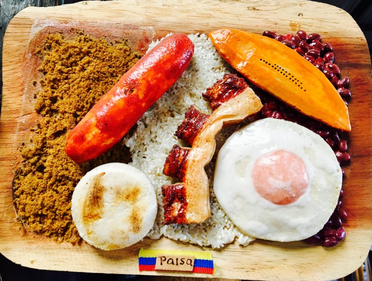 Because why wouldn't you make a Bandeja Paisa into a work of art?
