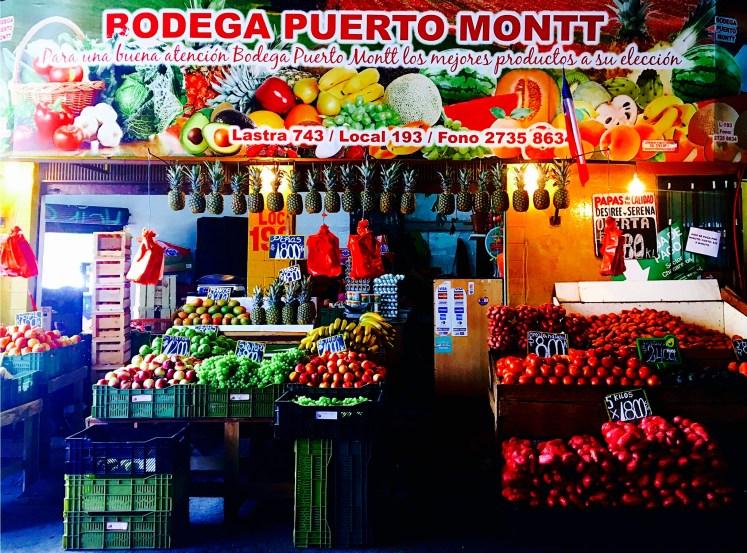 Vibrant La Vega Market in Santiago