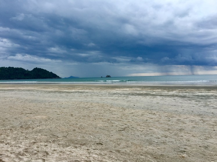 Calm seas and stormy skies in Koh Phayam #thailand #island