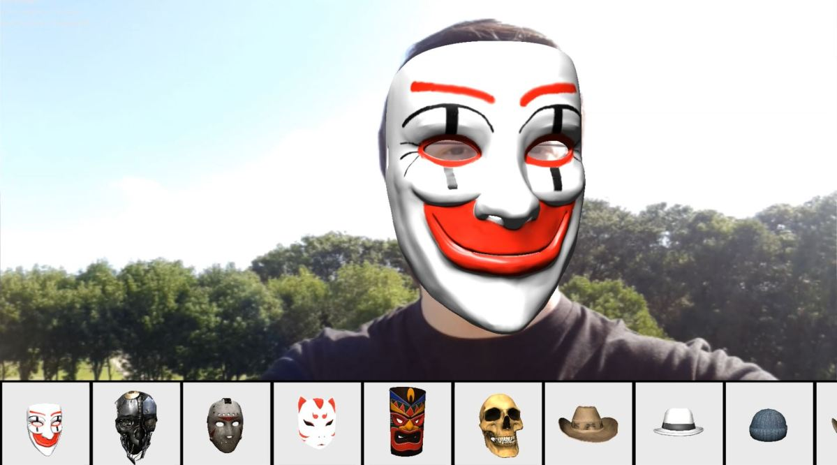 [Demo] Augmented Reality Face Tracking using Mobile Devices