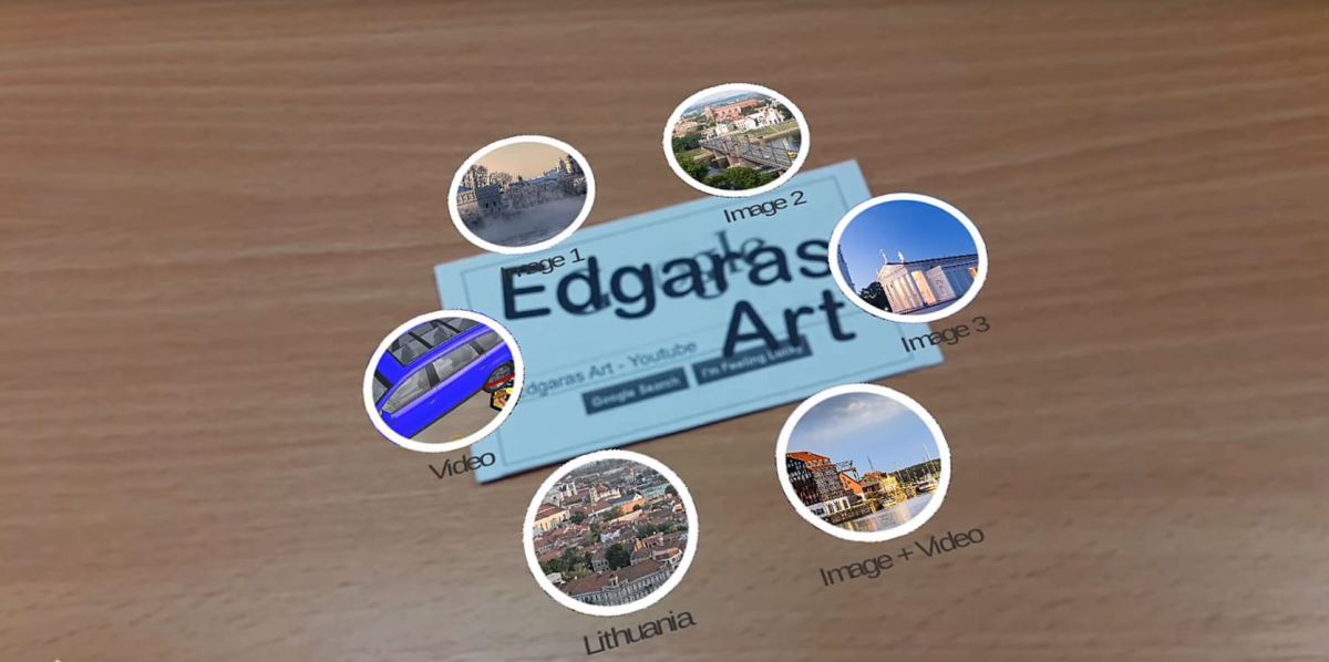 [DEMO] Augmented Reality Business Card: Viewing Videos and Photographies