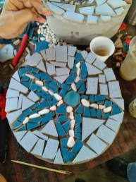 My tile starfish-just needs grout to finish