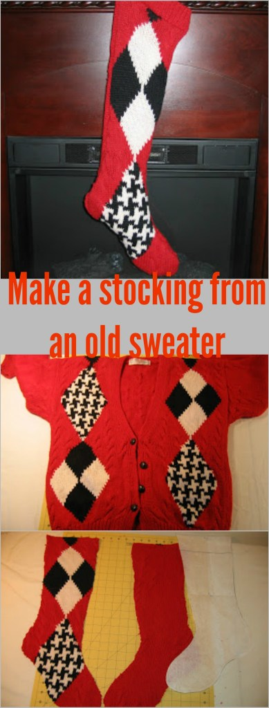Use an old sweater to make your own custom DIY stockings. Full tutorial on this blog
