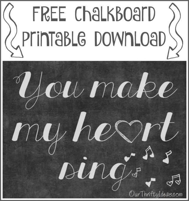 printable valentines day chalkboard print