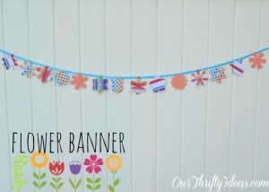 Springtime Flower Banner