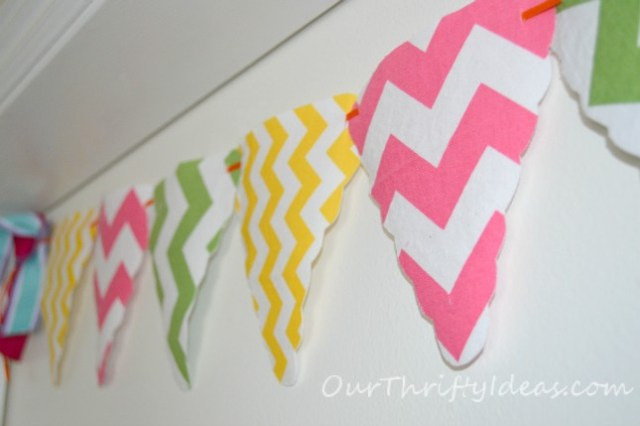 Chevron Banner made with Riley Blake's chevron fabric