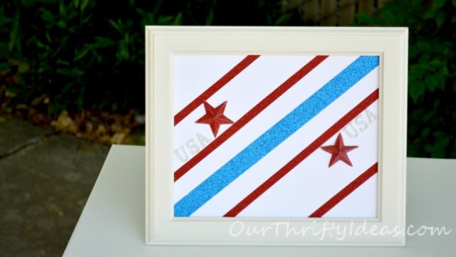 3D Patriotic Framed Art