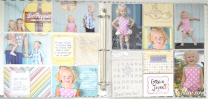 Project Life, 5th & Frolic new line sold at Michaels. Layout from OurThriftyIdeas.com