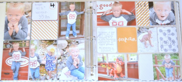 Birthday Boy Layout with Project Life Midnight edition