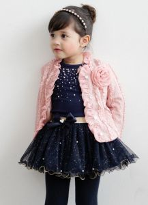3 piece holiday skirt tee and coat