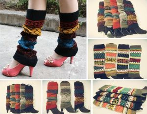 Women Lady Winter Warmer Snowflower Grid Crochet Knitted Leg Boots Cover Socks for $6.47 ($.99 shipping)