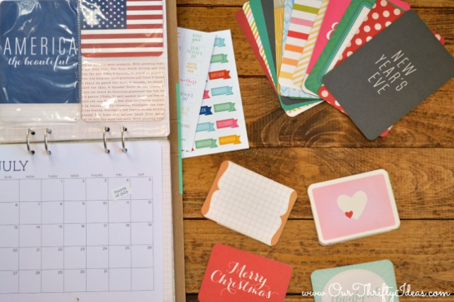 Recollections Callendar - A callendar that doubles as a yearly scrapbook | www.ourthriftyideas.com #giftsatmichaels #diy #calendar #scrapbook