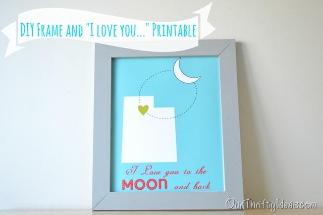 DIY frame & I love You printable