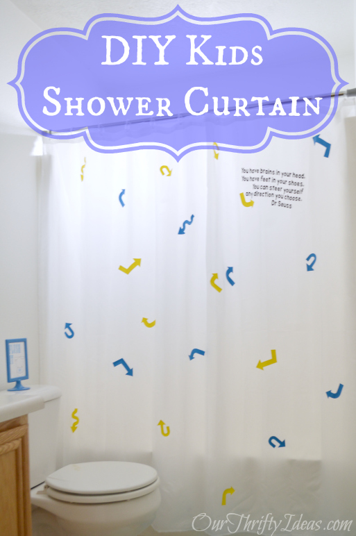 DIY kids shower curtain tutorial