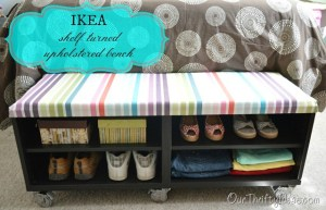 IKEA shelf turned upholstered bench_thumb
