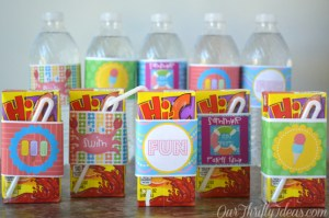 summer water bottle printables