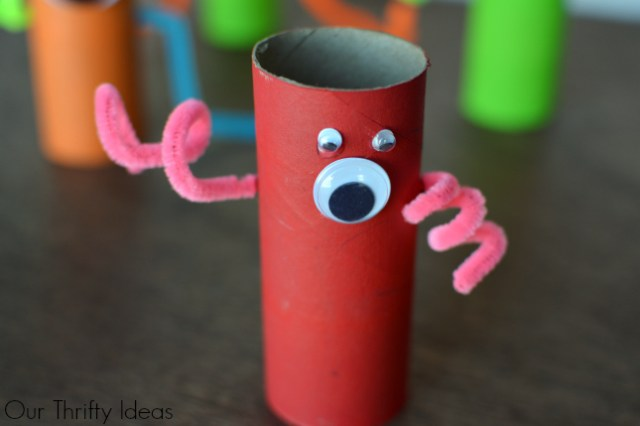 These little monsters are so cute. The kids would love making these out of our empty toilet paper tolls.