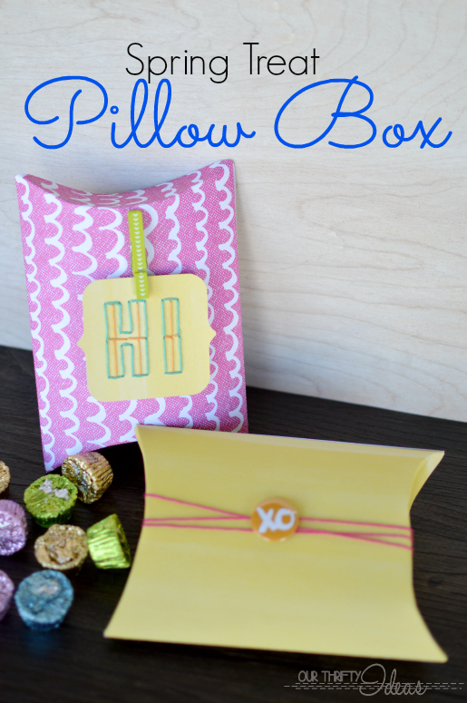 Cute spring gift idea. Make your own pillow box and fill with seasoned chocolates.