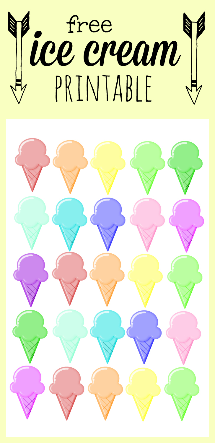 graphic relating to Ice Cream Printable known as Ice Product - Rainbow Printable - Our Thrifty Plans