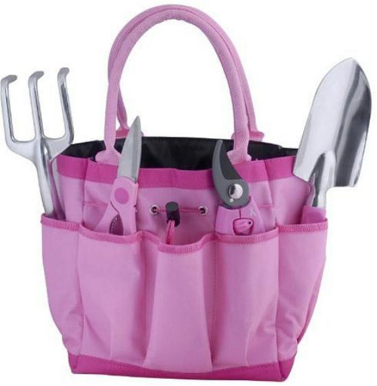 pink gardening tools