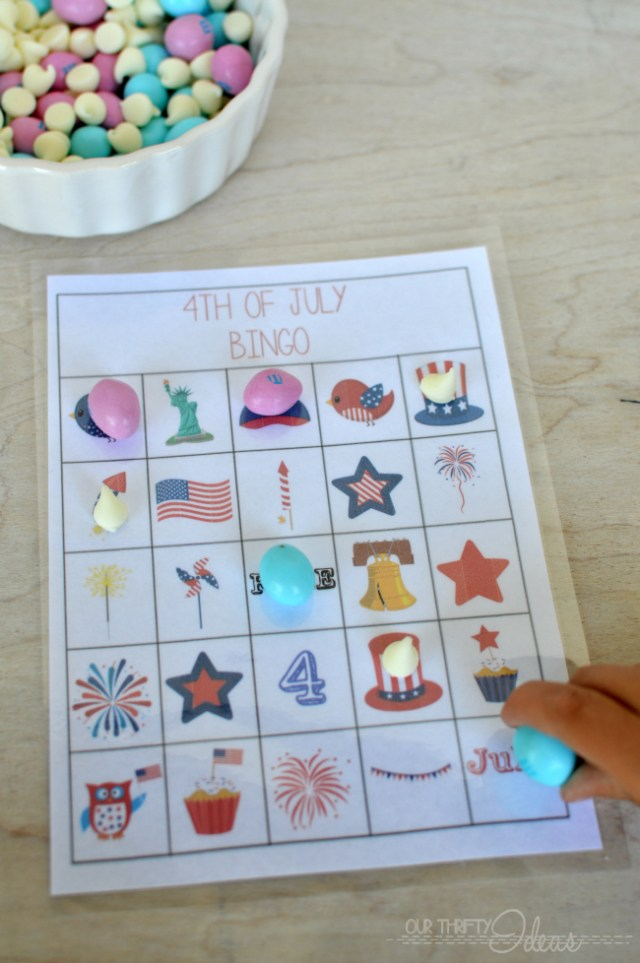 FREE 4th of July BINGO printables