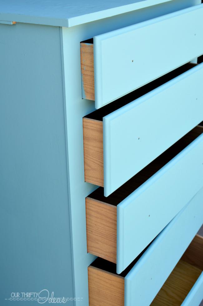 refinishing a kids dresser using FolkArt® Home Decor™ Chalk and creating gender neutral decor