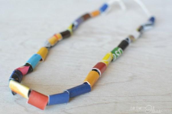 FREE kids crafts – DIY Kids necklace