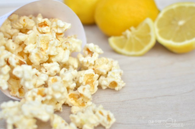 Lemon & White Chocolate Popcorn. This popcorn is amazing. The perfect balance of sweet, salty and citrus in one treat.