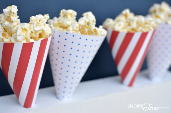 Printable Popcorn Cones