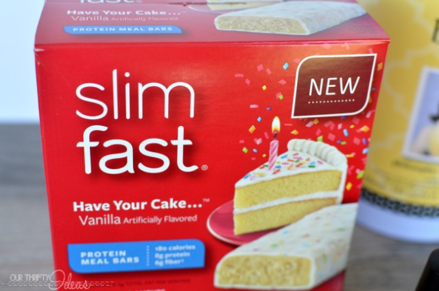 slimfast have your cake bars