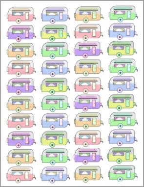 vintage camper rainbow printable