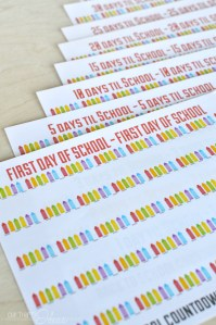 Print & Cut – Back To School countdown chain