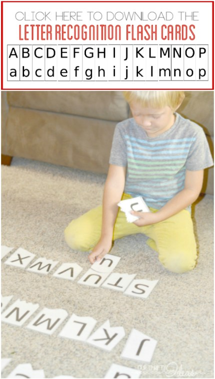 letter recognition flash cards