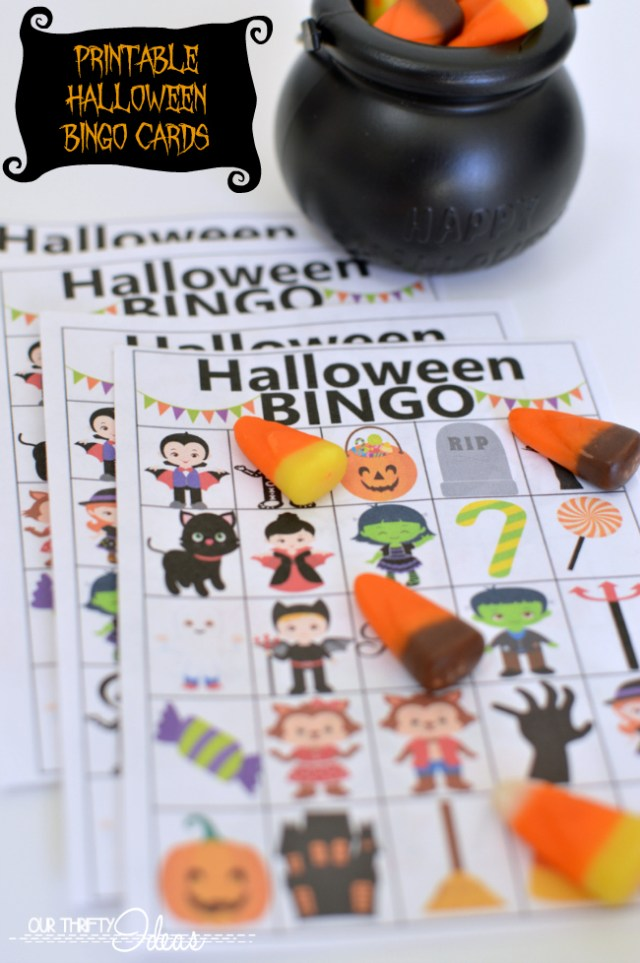 use these printable bingo cards for your Halloween party. It's the perfect game for all ages.