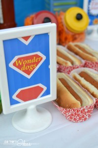 wonder dogs sign for a super hero party