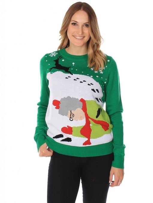 Grandma got run over by a reindeer Ugly Sweater