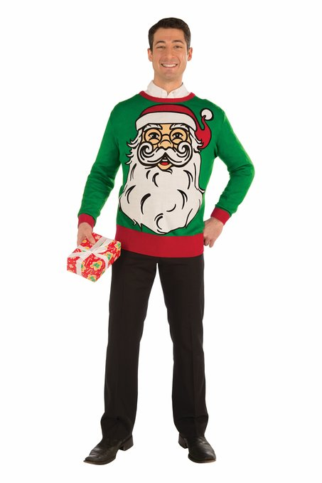 Santa Face Ugly Sweater