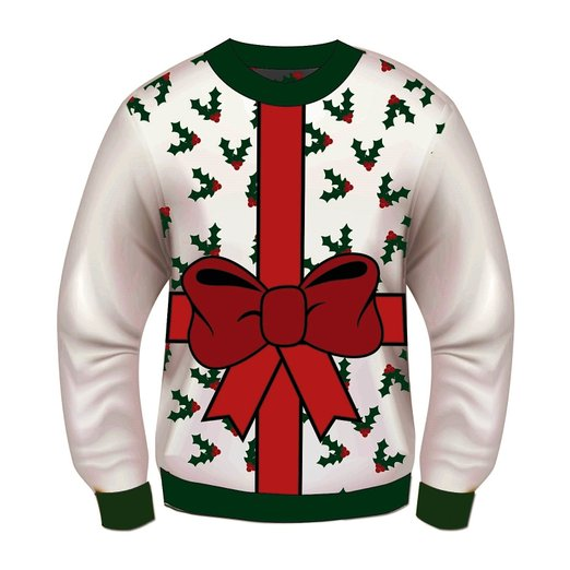wrapped gift Ugly Christmas Sweater