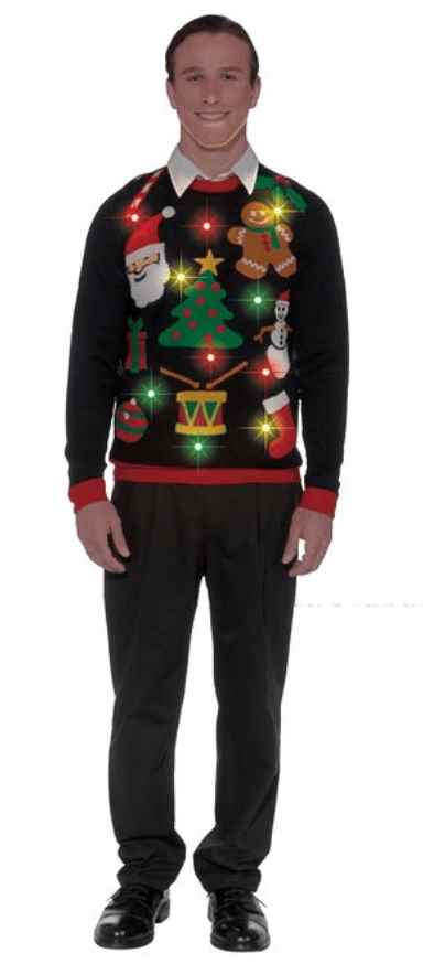 light up Christmas sweater