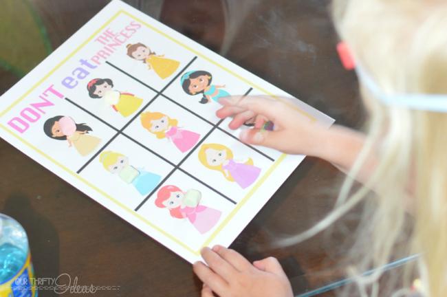 free don't eat the princess game sheets printable