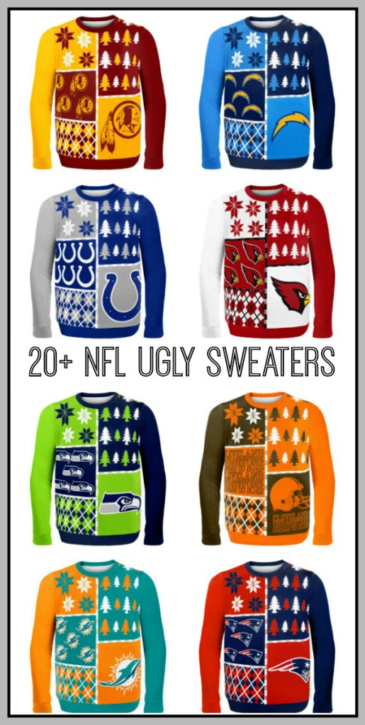 Such a fun idea for an Ugly Sweater Party. Wear your favorite team with pride!
