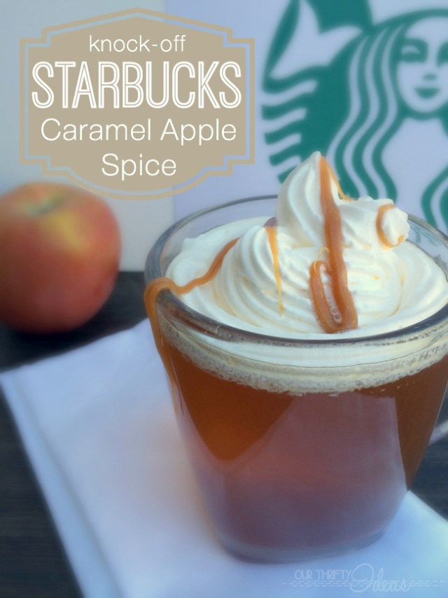 Don't spend the money on a Starbucks Caramel Apple Spice. You can make your own at home for a fraction of the cost. It's tastes just like it too.