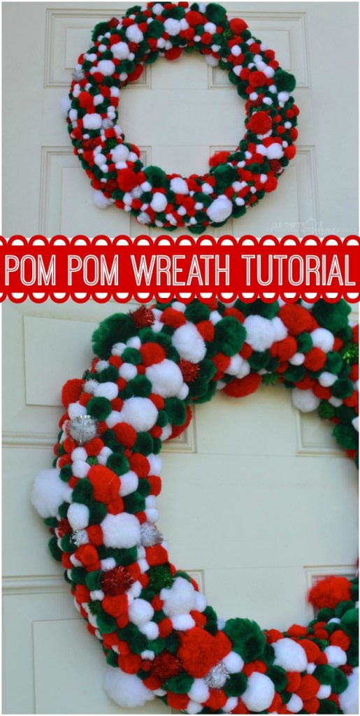 Fun idea on how to make your own Pom Pom wreath.