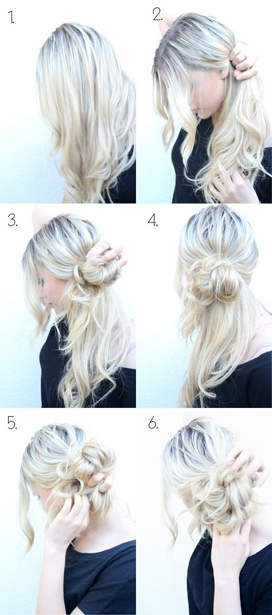 How to do a messy side bun