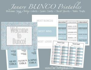 Winter Bunco Free Printables